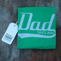 Dad Since 2012 - Personalized With Any Year - Cotton Men's T-Shirt - FREE SHIPPING