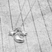 Necklace, Moon and Stars