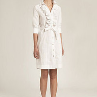 shirt dress with frill front by the shirt company | notonthehighstreet.com