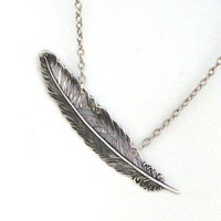 Steampunk FALLEN ANGEL FEATHER Necklace