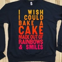 I Wish I Could Bake A Cake Made Out Of Rainbows &amp; Smiles (Sweater) - Glen Coco Is My BF