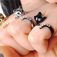 FLASH SALE Buy 2 Get 1 Free - Last DAY - Beautiful Swarovski Crystal Cat Ring