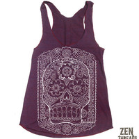 Womens DAY Of The DEAD american apparel TriBlend