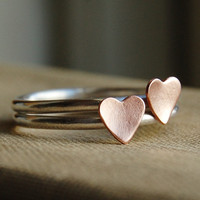 Sterling Silver Stacking Rings - Rustic Romance - Best Friends or Bridesmaids - Your Sizes