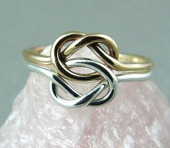 double love knot ring infinity knot from