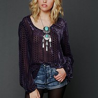 Free People Velvet Bell Sleeve Top