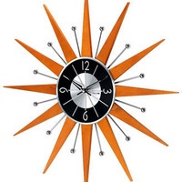 Funky Wood Starburst Wall Clock