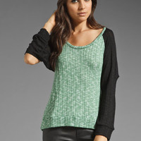 LnA Baseball Top in Green/Black from REVOLVEclothing.com