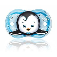 Amazon.com: RaZbaby Keep-It-Kleen Pacifier, Ethan Penguin, 0-36 Months: Baby