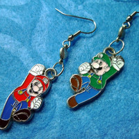 Nintendo Mario and Luigi Brothers Power Up Earrings