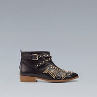 ANKLE BOOT WITH STUDDED TOE - Shoes - Woman - ZARA United Kingdom