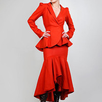Terra di Siena - Tailored Bustle Peplum Jacket