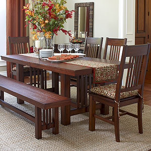mission 6 piece dining set dining room from cost plus world