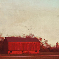 old red barn, landscape, fine art photography