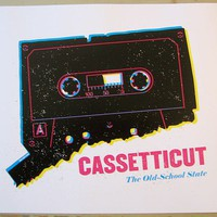$8.00 CASSETTICUT The Old School State by standard on Etsy