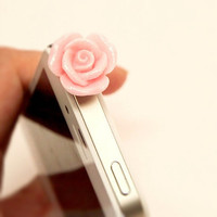 $3 cell phone accessories! Rose phone topper headphone dust plug by Opus 19