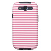 Gerber Daisy And White Stripes Samsung Galaxy SIII Cases