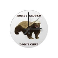 Honey Badger Don't Care Wallclock