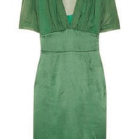 Philosophy di Alberta Ferretti Sheer-back silk dress - 60% Off Now at THE OUTNET