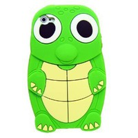 Amazon.com: Turtle Dinosaur Silicone 3D Case Cover for iPhone 4/4S - Green: Cell Phones & Accessories