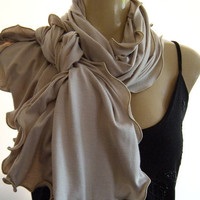 Classic Beige Neck Rag with matching by Textilemonster on Etsy