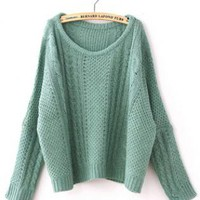 Vintage Twist Green Sweater  S001949