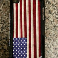 iPod Touch 4 American Flag iPod Touch Case Available in Black or White