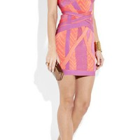 Herve Leger Coloful Chest Wrapped Dress