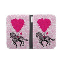 Vintage zebra &amp; pink heart on damask from Zazzle.com