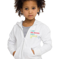 I Like Big Books And I Cannot Lie - Kids Fleece Zip Hoodie - FREE SHIPPING
