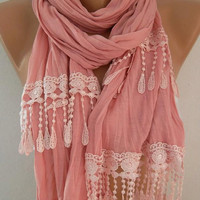 Georgeus pink  Georgeus Scarf  Elegance Scarf Feminine Scarf Caramel Scarf  It made with good quality fabric.
