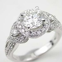 Romantic Diamond Engagement Ring, RG-2401b