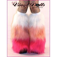 UV Glitter Fluffies WHITEBABY PINKHOT PINK Furry by OsiVinylDoll
