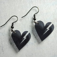 Heartbreaker Earrings by infraredstudio on Etsy
