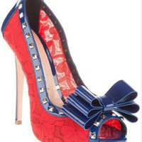 Gianmarco Lorenzi Red Peep Toe Shoes - $181.00