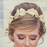 Three little bows, headband for adults, women hair accessory