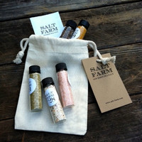 5 pack Gourmet Sea Salt Sampler