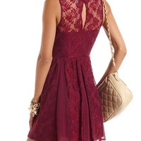 Lace & Chiffon A-Line Dress: Charlotte Russe
