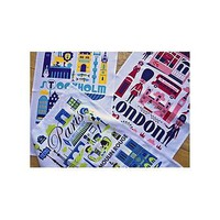 city tea towels by ingela arrenhius by hunkydory home | notonthehighstreet.com