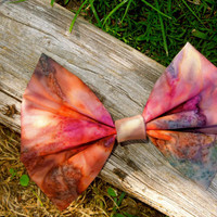 Large Bright Water Color Hair Bow