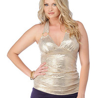 Plus Size Embellished Halter Top | Sexy Clothes Womens Sexy Dresses Sexy Clubwear Sexy Swimwear | Flirt Catalog