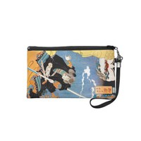 Cool japanese legendary hero warrior samurai art wristlet clutch from Zazzle.com