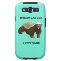 Honey Badger Don't Care Mint Green Samsung Galaxy S3 Covers