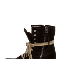 MTNG Hydra 54952 Wax Black Suede Lace-Up Ankle Boots