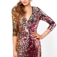 Rubber Ducky Wildfire Multi Sequin Dress