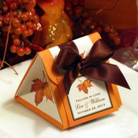 AUTUMN FALL wedding origami favor boxes MAPLE LEAVES bridal shower