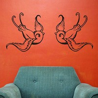 tattoo swallow wall decals by beepart on Etsy