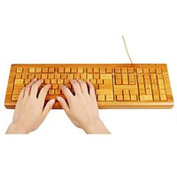 Natural bamboo keyboard by Hallomall