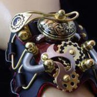 STEAMPUNK Victorian Industrial Cuff Watch Bracelet | eBay