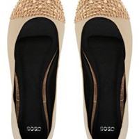 ASOS LOVER Studded Toe Cap Ballet Flats at asos.com